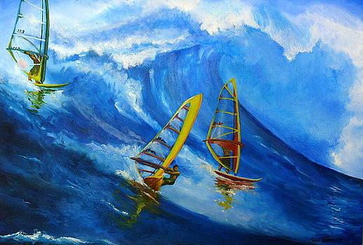 Maui Windsurfers by Sarah Grangier