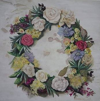 May wreath by Caroline Philp