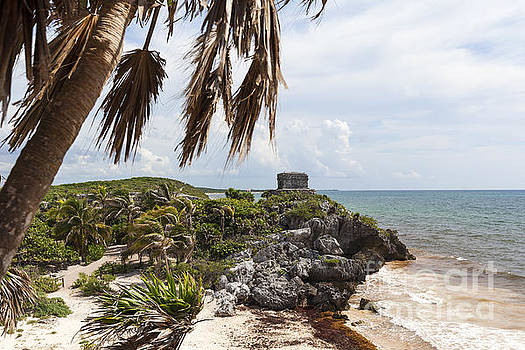 Mayan Ruins along the Caribbean Coast in Tulum Mexico by Brandon Alms