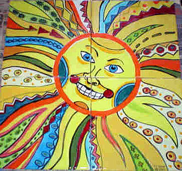 Mayan Sun God by Dy Witt