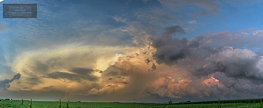 Maysville, Iowa Sunset Pano by Paul Brooks