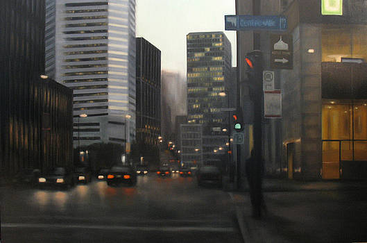 McGill Bus Stop by Sharon Ramsay