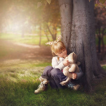 Me and my teddybear by Cindy Grundsten