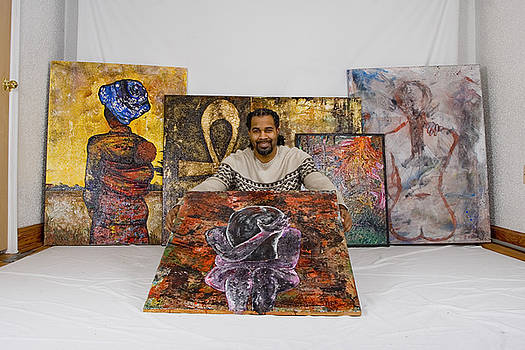 Me and some of my work by Ramel Jasir