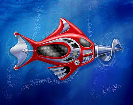 Mechanical Fish 1 Screwy by David Kyte