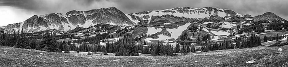 James BO  Insogna - Medicine Bow Mountain Snowy Range Panorama Black and White