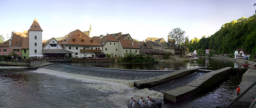 Medieval Czech Republic Town and River by Jeff Schomay