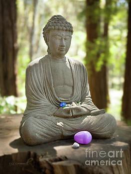 Meditation Buddha with Offerings by Carol Lynn Coronios