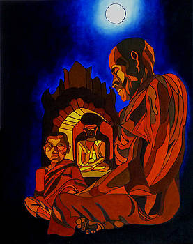Meditation  by Sarojit Mazumdar
