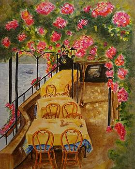 Mediterranean Cafe by Bonnie Schallermeir