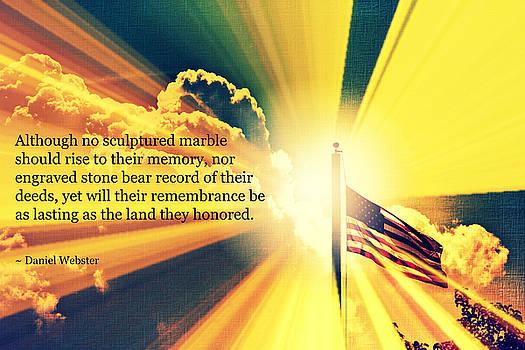 Memorial Day Quotation Art IV by Aurelio Zucco