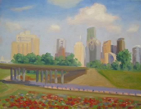 Memorial Flowers in Bloom by Texas Tim Webb