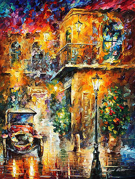 Memories Of Stories - PALETTE KNIFE Oil Painting On Canvas By Leonid Afremov by Leonid Afremov