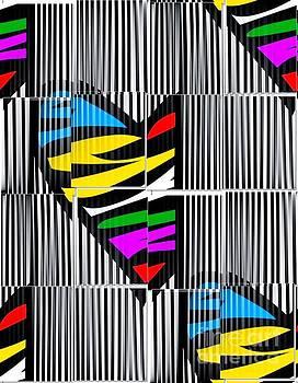 Memory Popart Heart by Nico Bielow  by Nico Bielow