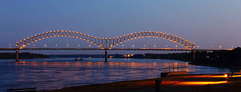 Memphis - I-40 Bridge Over the Mississippi 2 by Barry Jones