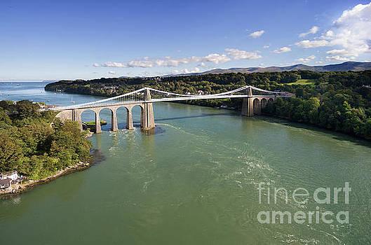Menai bridge 1 by Steev Stamford