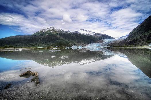 Mendenhall Lake by Claudio Bacinello