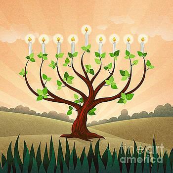 Menorah Tree by Bedros Awak