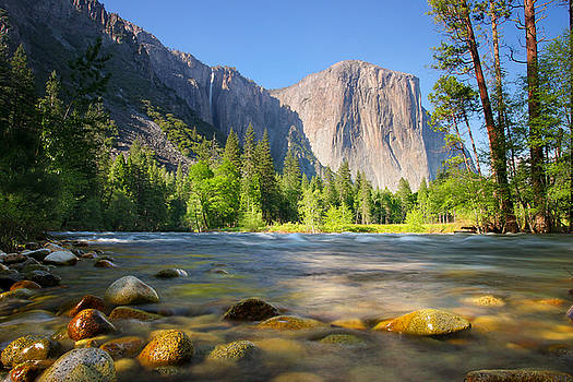 Merced River in Yosemite Valley by Buck Forester