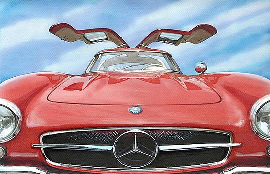 Mercedes Gullwing by Rod Seel