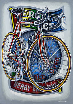 Mercian Flam Red Road Bicycle by Mark Howard Jones
