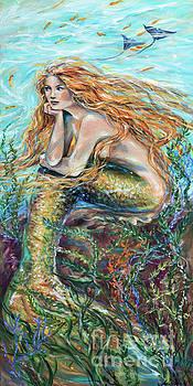 Mermaid Contemplating by Linda Olsen