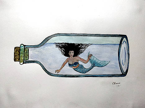 Mermaid in a Bottle by Edwin Alverio