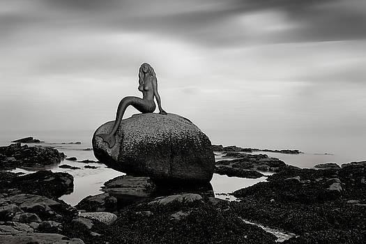 Mermaid of the north mono by Grant Glendinning