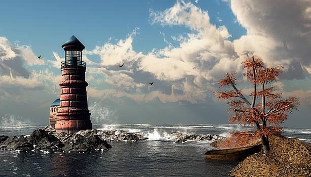 Lighthouse on Mermaid Perch  by John Junek