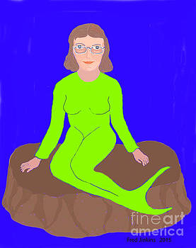 Mermaid with Glasses by Fred Jinkins
