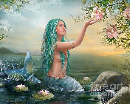Mermaid with Green Hair by Alena Lazareva