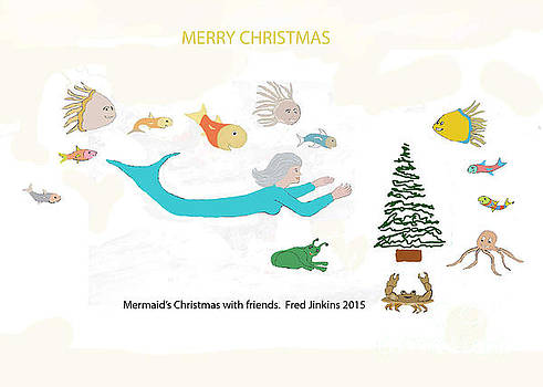 Mermaid's Christmas with Friends by Fred Jinkins