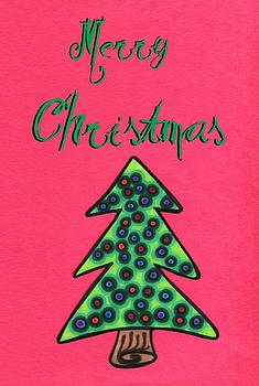 Mandy Shupp - Merry Christmas Abstract tree