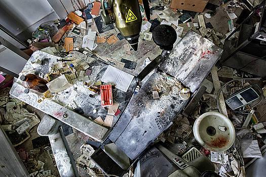 Messy dentist cabinet - abandined buildings by Dirk Ercken