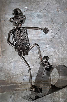 Metal Skateboarder by John Knapko
