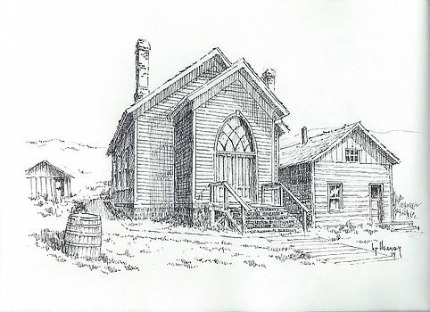 Methodist Church Bannack Montana by Kevin Heaney