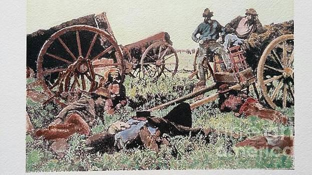 Metis Hunters' Camp 1872 by Laurel Anderson-McCallum