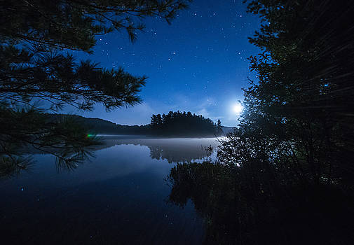 Mew Lake Moonset 2 by Cale Best