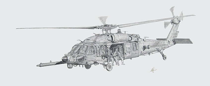 MH60 with gun by Nicholas Linehan