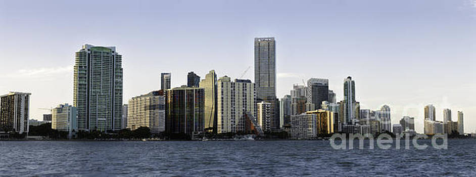 Miami panoramic skyline 2016  by Eyzen M Kim