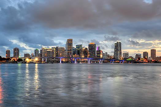 Miami Skyline at Dusk by Mark Whitt