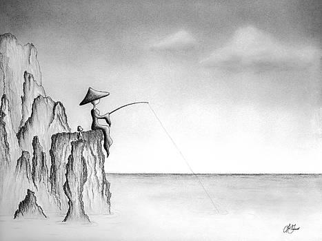 Micah Monk 03 - Fishing by Lori Grimmett