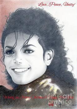 Michael Jackson Christmas Card 2015 - 'Love, Peace, Unity' by Eliza Lo
