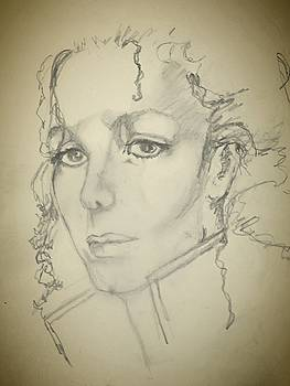Michael, pencil sketch by  Anne Buffington