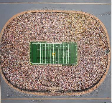 Michigan Stadium  Aerial View SOLD by Jorge Rivas