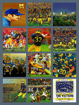 Michigan Wolverines Football Collage by John Farr