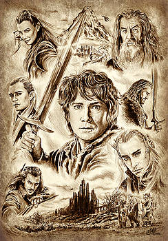 Middle Earth sepia by Andrew Read