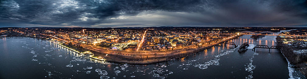 Middletown CT, Twilight Panorama by Petr Hejl