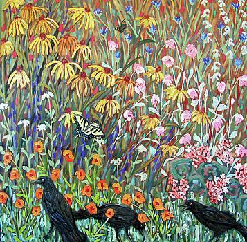 Midsummer Enchantment- diptych side B by Susan  Spohn