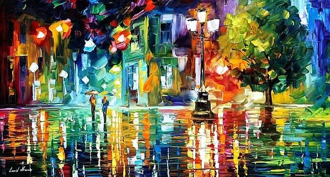 Mild Storm - PALETTE KNIFE Oil Painting On Canvas By Leonid Afremov by Leonid Afremov